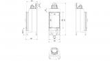 KRATKI Teplovzdušná krbová vložka Kratki NADIA 9 - rovné sklo s externím přívodem vzduchu DOPRAVA ZDARMA