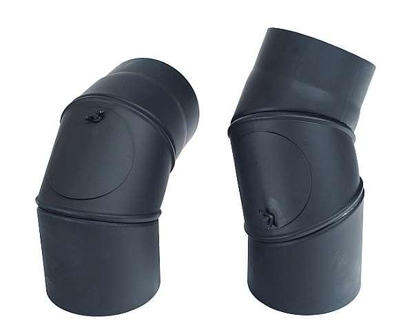 KRATKI Kouřovod koleno stavitelné + čistící 0° - 90°, Ø 130 mm Kraus
