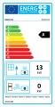 KRATKI Teplovzdušná krbová vložka Kratki NADIA 13 - rovné prosklení s externím přívodem vzduchu - DOPRAVA ZDARMA