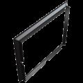 KRATKI Kratki instalační rámeček 45° pro krbovou vložku Lucy 15 rovné sklo