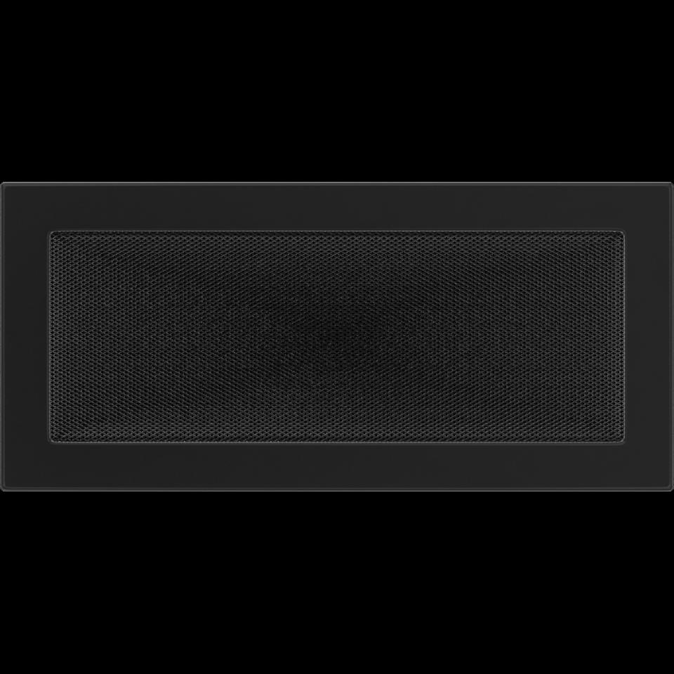 KRATKI KRATKI krbová ventilační mřížka 17x37 černá (lakovaná)