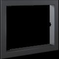 Kratki ocelový rámeček 90° pro krbovou vložku Lucy 12 Tunel - zadní strana