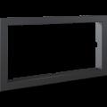 Kratki ocelový rámeček 90° pro krbové vložky Lucy 16 rovné sklo / Lucy 20+TV