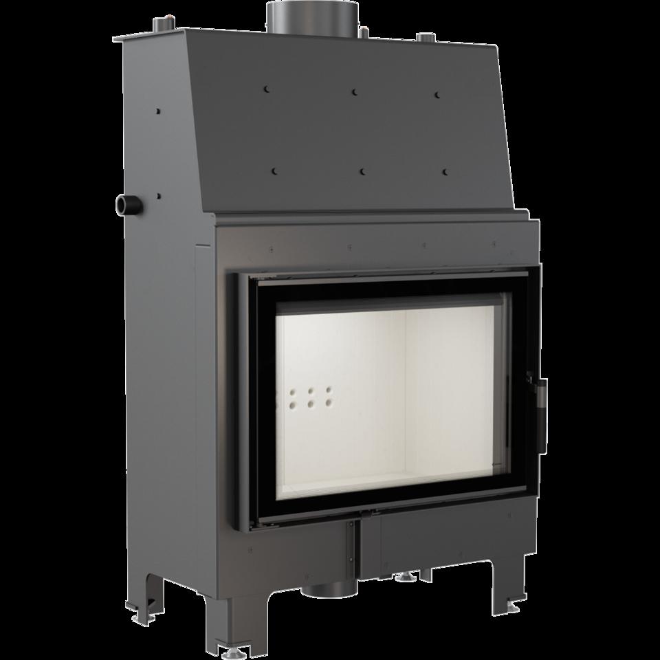 KRATKI Teplovodní krbová vložka MBO TV 15 kW rovné prosklení s tepl. výměníkem DOPRAVA ZDARMA Kratki