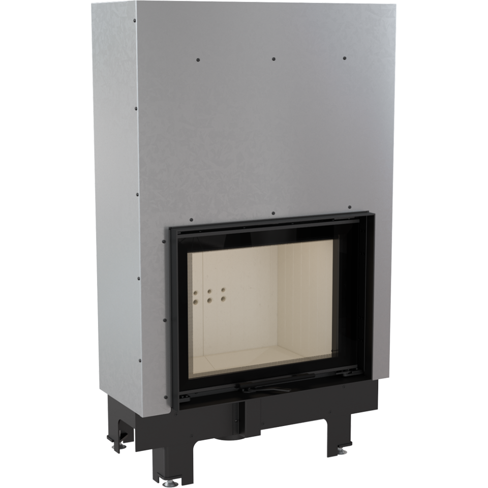 KRATKI Teplovodní krbová vložka MBZ G TV 13 kW rovné prosklení s tepl. výměníkem, gilotina DOPRAVA ZDARMA Kratki