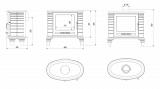 KRATKI Litinová krbová kamna Kratki Koza K8 - DOPRAVA ZDARMA
