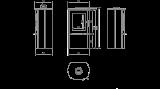 KRATKI Teplovzdušná krbová kamna Kratki FALCON 9 panoramatické sklo sklo DOPRAVA ZDARMA