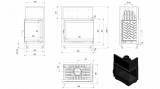 AMELIA BS Deco pravé boční prosklení tech.