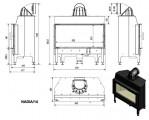 NADIA 14 DG BLACK rovné sklo s dvojitým prosklením tech.