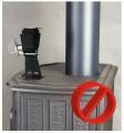 KRATKI Ekologický Termoelektrický ventilátor 150m3/hod