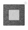 KRATKI ventilační mřížka 11x11 černo-stříbrná