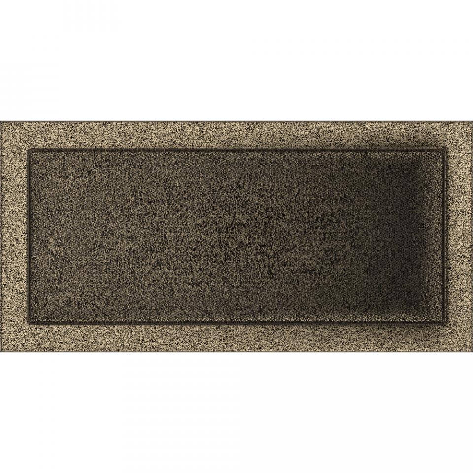 KRATKI KRATKI krbová ventilační mřížka 22x45 černo-zlatá (lakovaná)